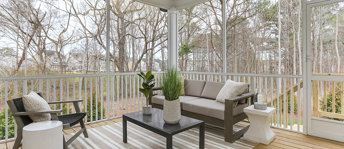 View of screened-in porch
