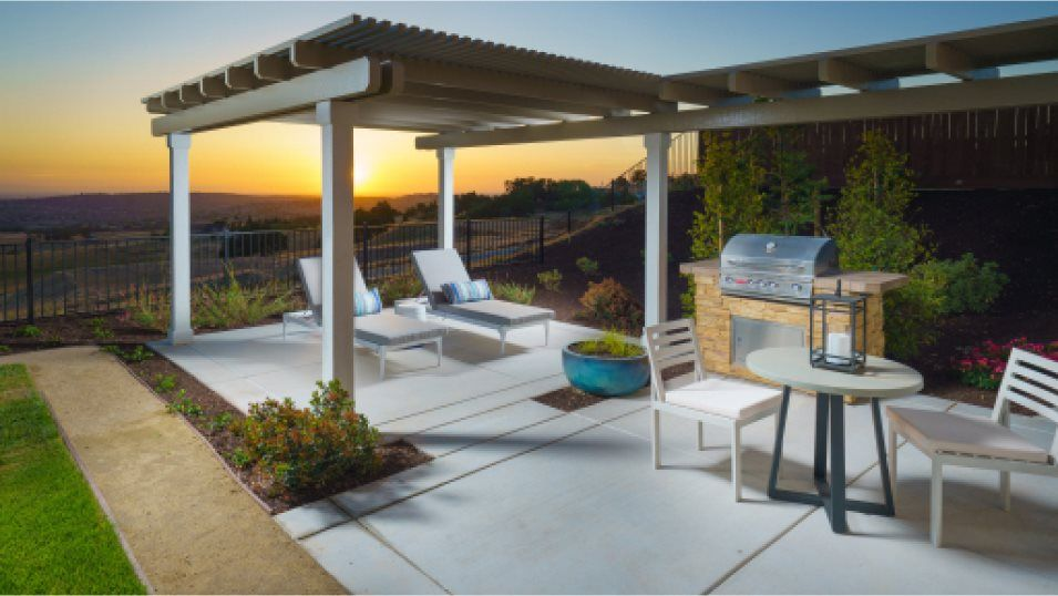 Emerald Peaks at Bass Lake Hills Residence 3762 Ou:This peaceful outdoor space is perfect for California summers, offering space to barbeque and enjoy