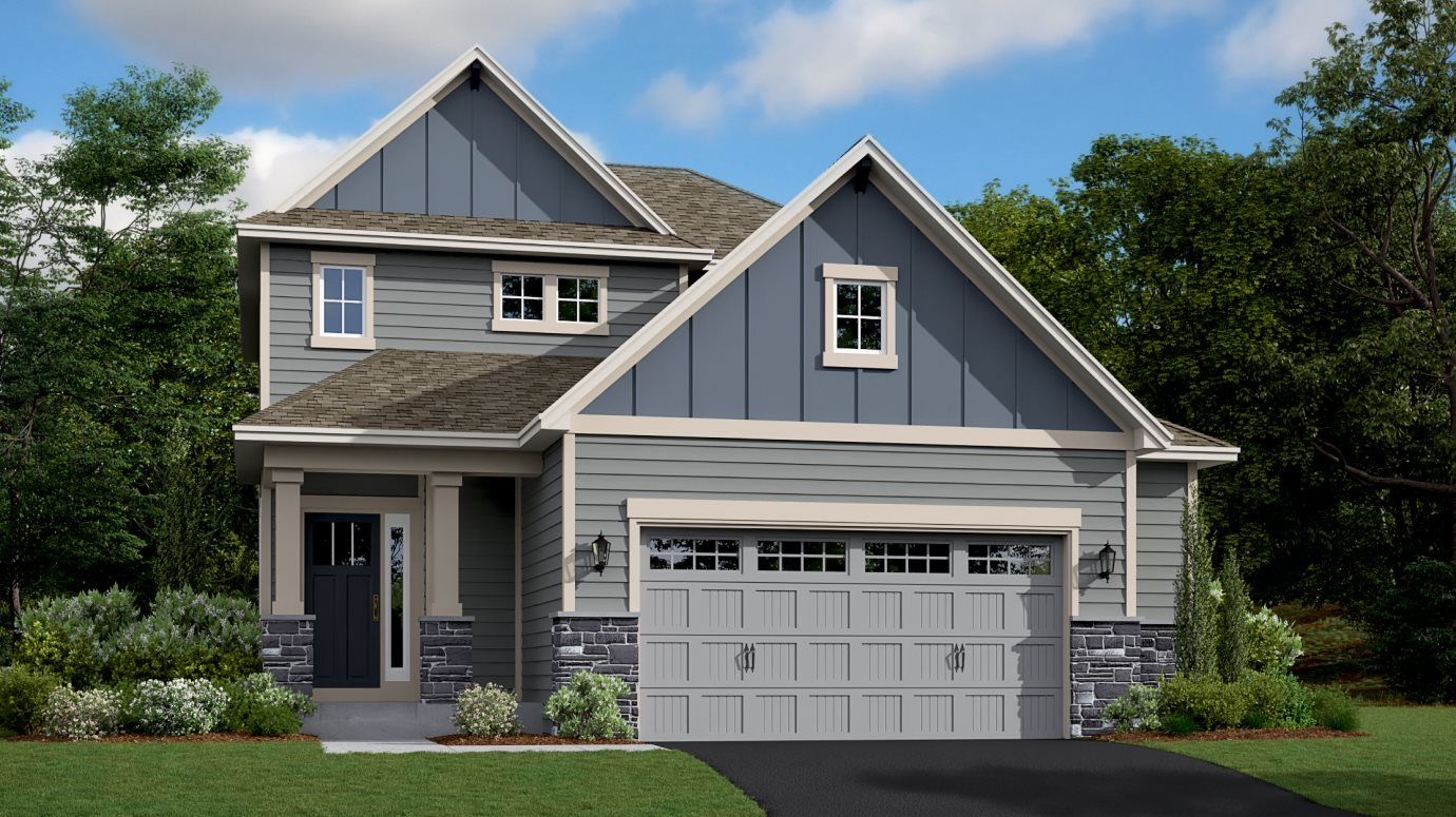 Cottage I exterior rendering of Bryce