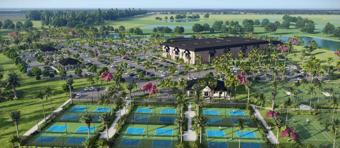 Verdana Village amenity tennis courts