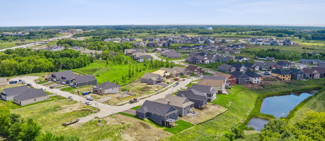 Aerial View of Lifestyle Villa Collection at Laurel Creek