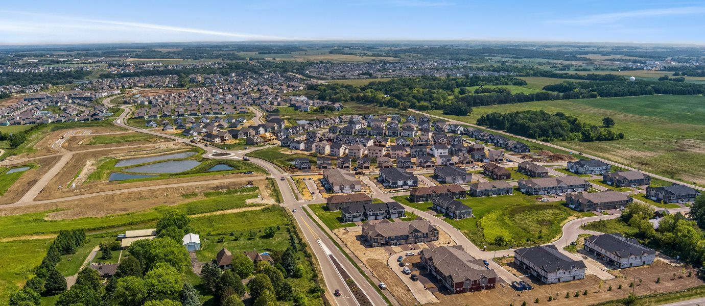 Colonial Manor at Bridlewood Farms Aerial View