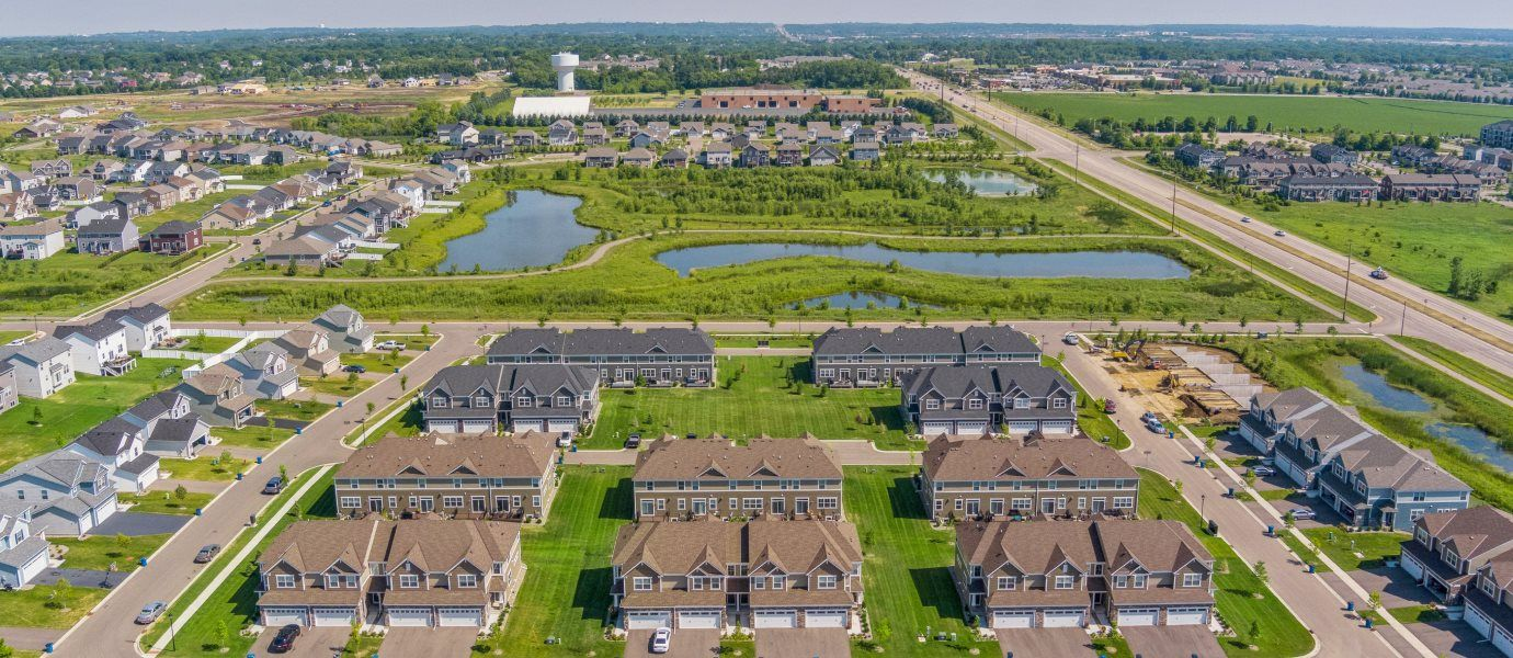Aerial view of Commons at Avonlea