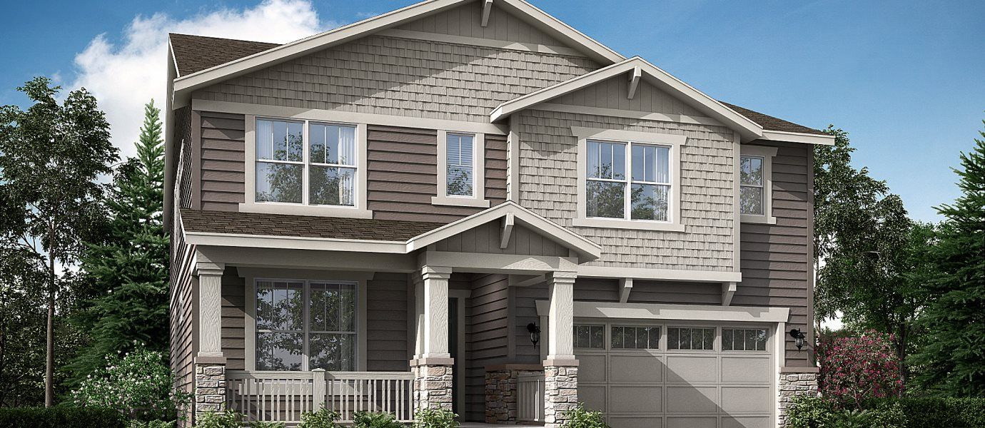 Rendering of a two-story home at the Monarch Collection