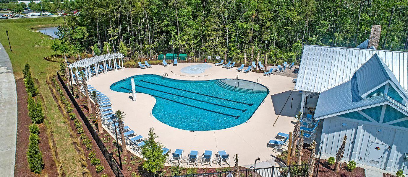 Aerial View of Belle Harbor Pool