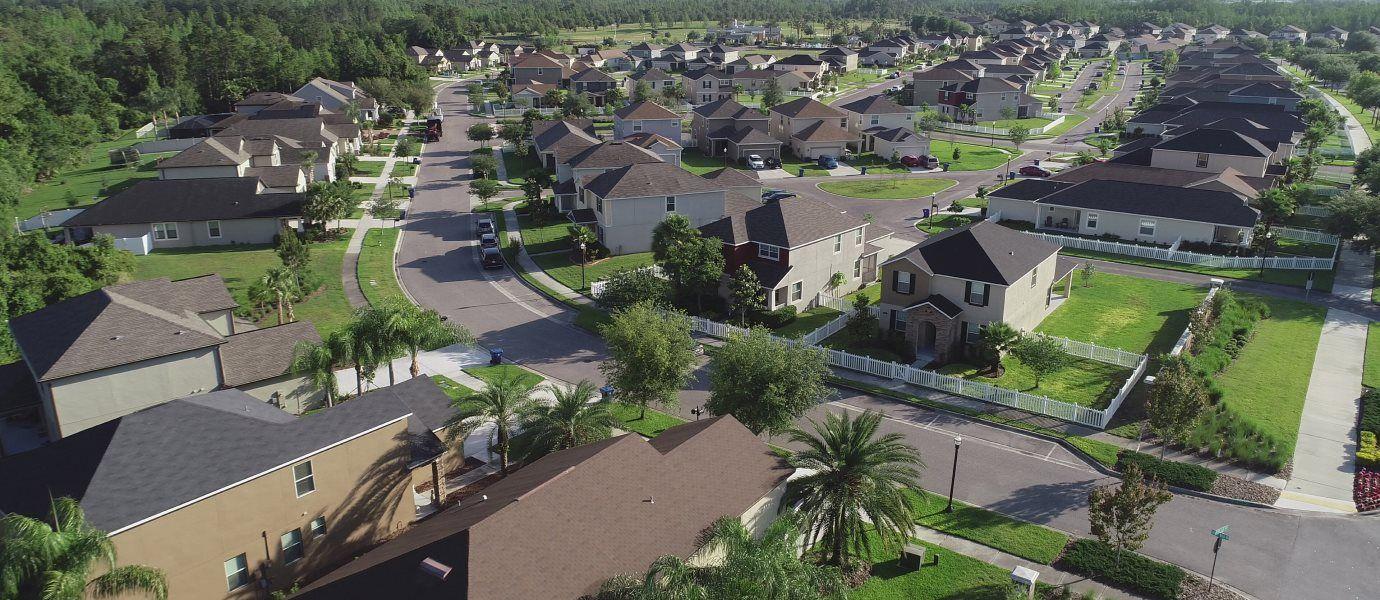 Aerial view of Sagewood Estates