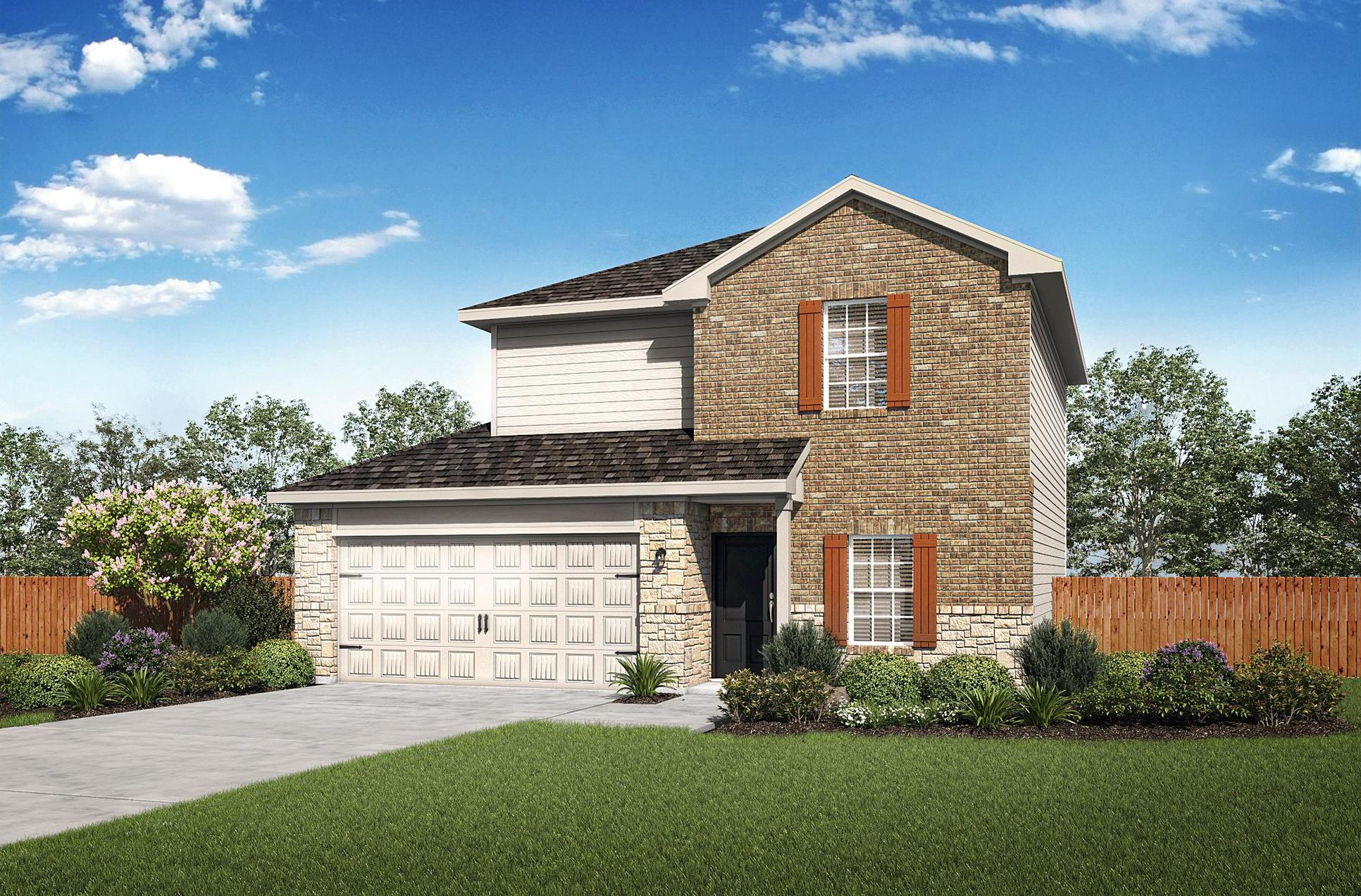 The Carson Plan by LGI Homes:The Carson Plan is a stunning two-story, 3-bedroom home!
