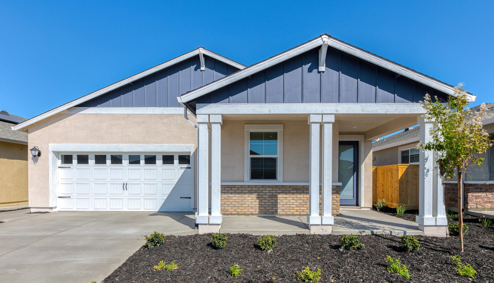 Summit at Liberty, a 55+ community:Each home includes a large covered front porch and back patio!
