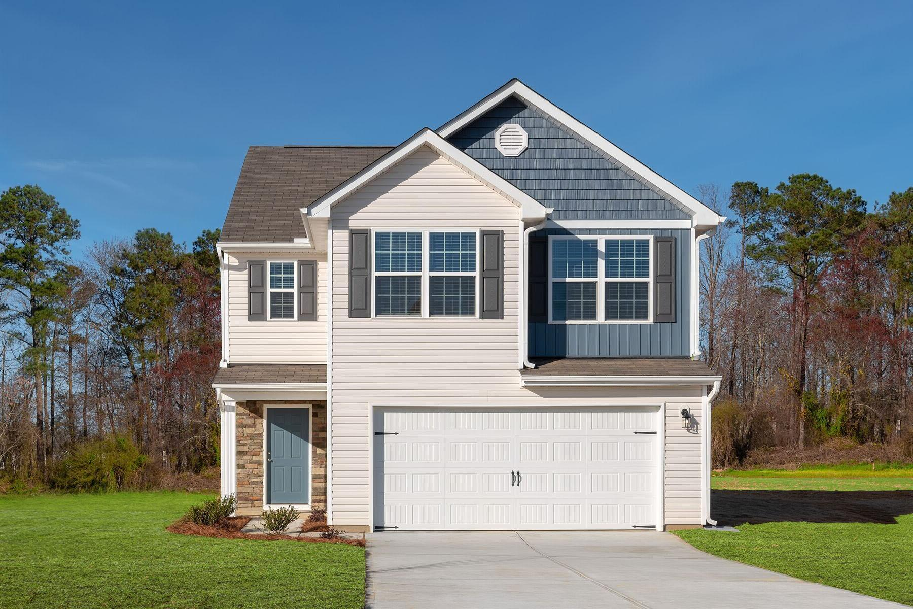The Burke Plan:Beautiful stone accent detailing