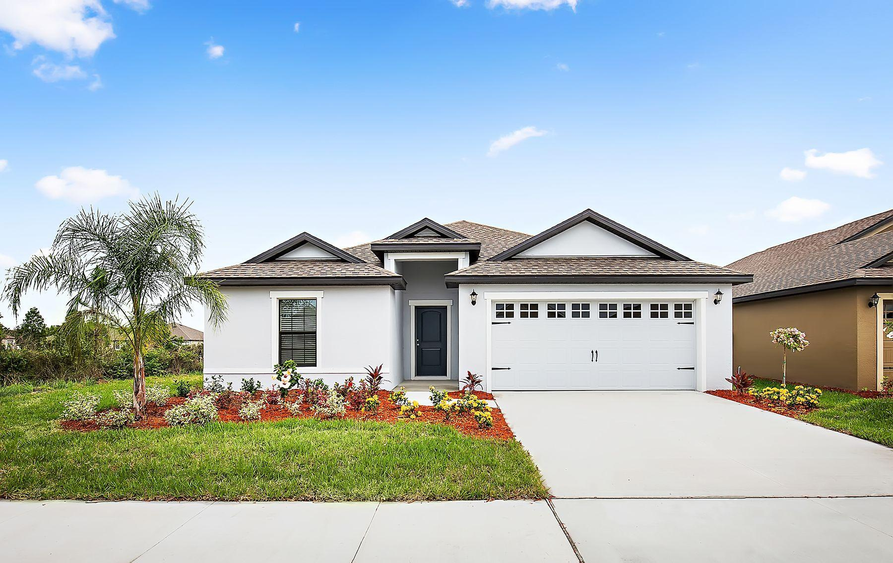 The Capri by LGI Homes:The Capri home comes with lush front yard landscaping