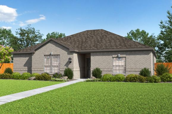LGI Homes at Hampton Meadows:The charming Clark plan.