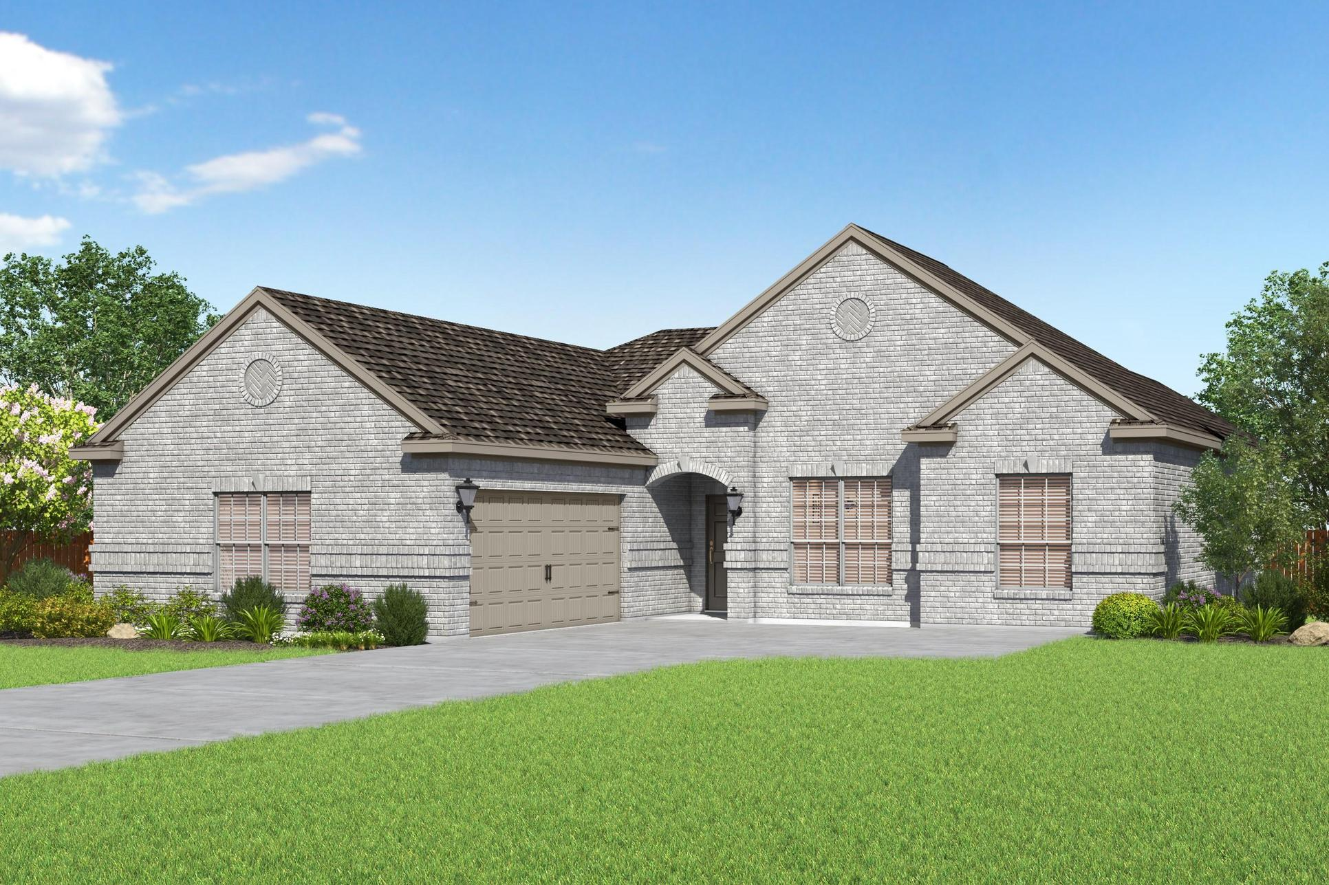 The Ironwood by LGI Homes:The Ironwood plan by LGI Homes is a gorgeous single-story home at Hampton Meadows.