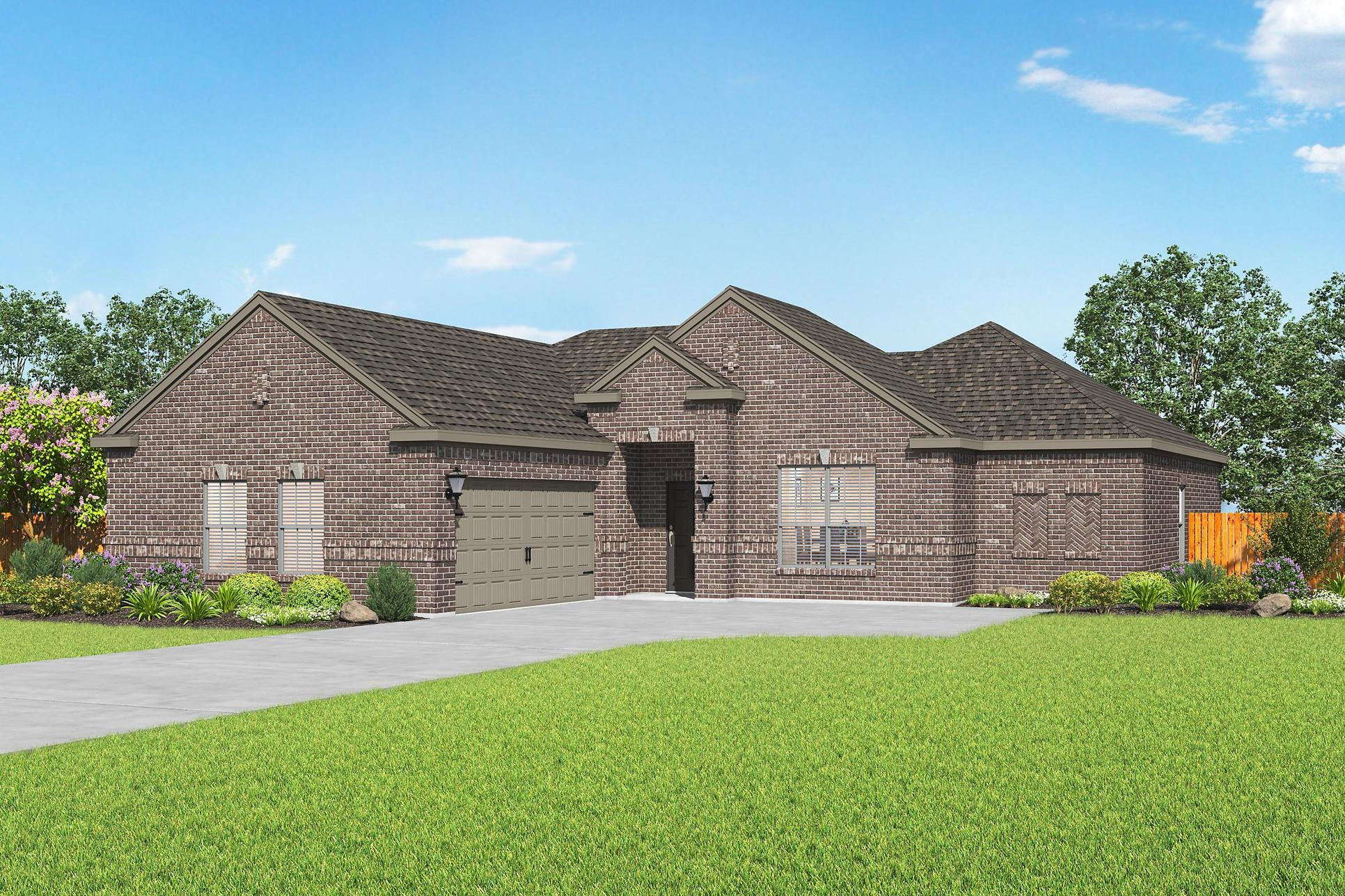 The Redbud by LGI Homes:The Redbud is a gorgeous, single-story home at Hampton Meadows!