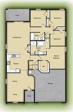 The Estero by LGI Homes:Multiple spacious bedrooms and an open-concept floor plan