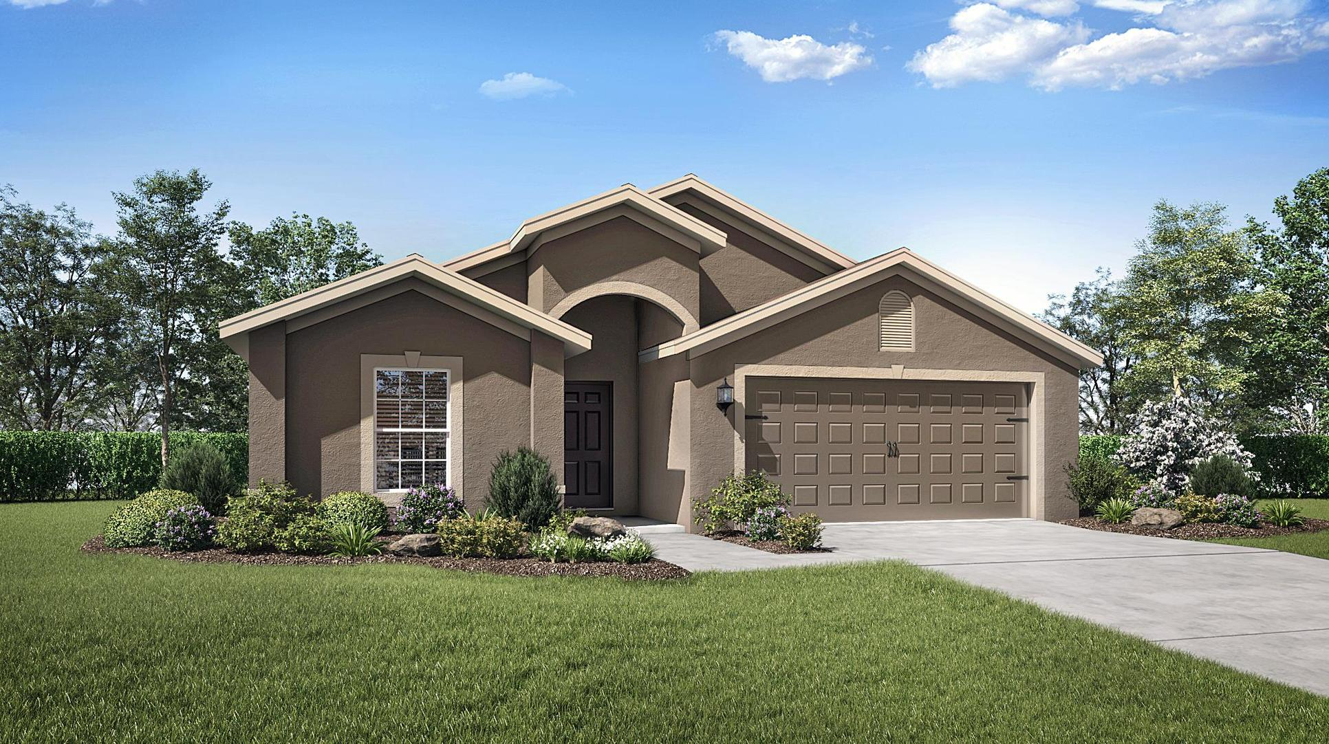 The Estero by LGI Homes:The Estero at Kensington View features lush front yard landscaping and plenty of entertainment space
