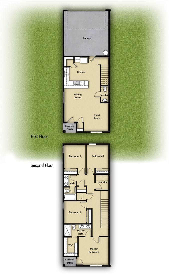 The Pendleton Townhome Plan by LGI Homes:LGI Homes at 5th Plain Creek Station