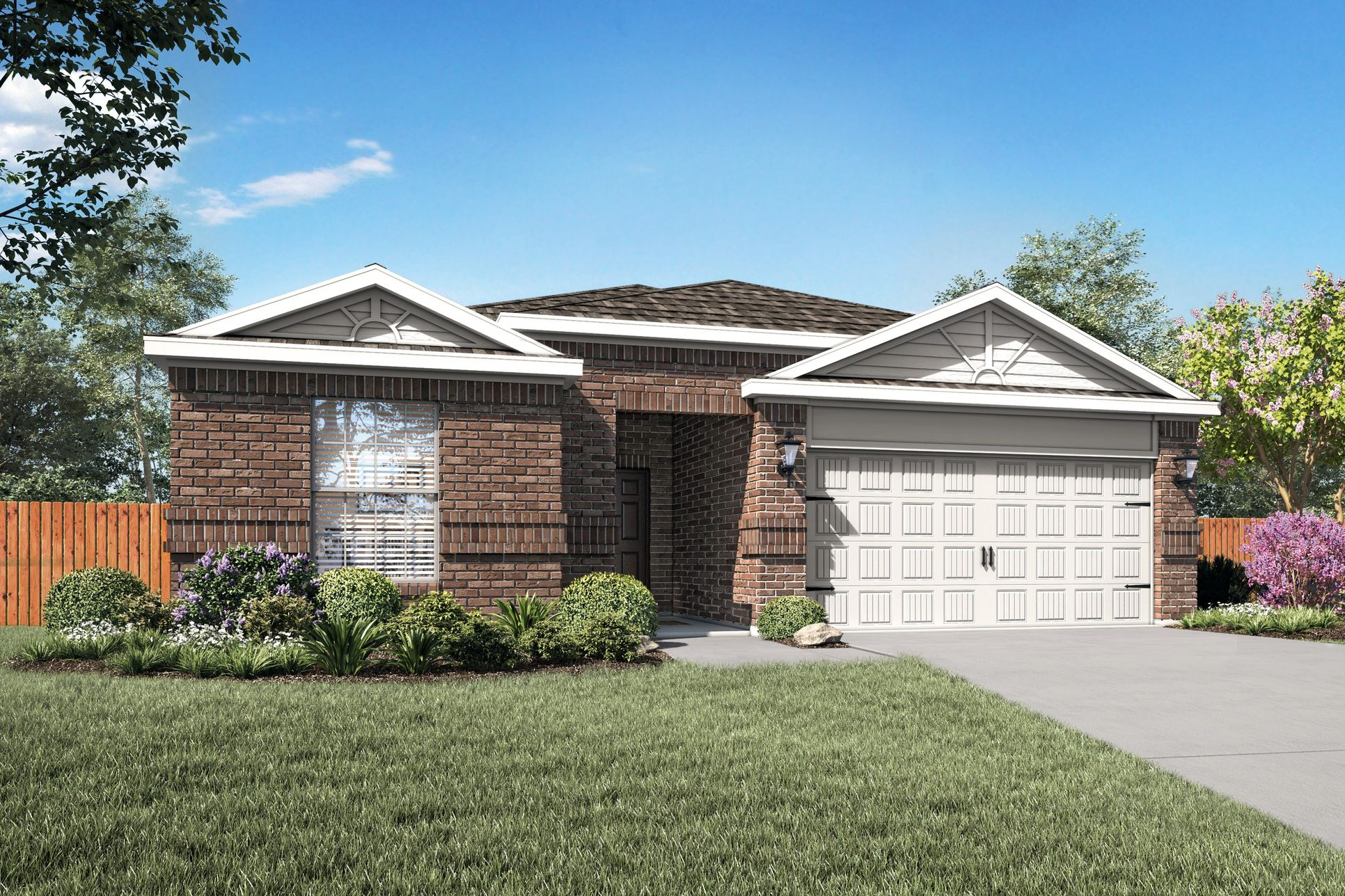 LGI Homes at Princeton Crossroads:The charming Reed plan.