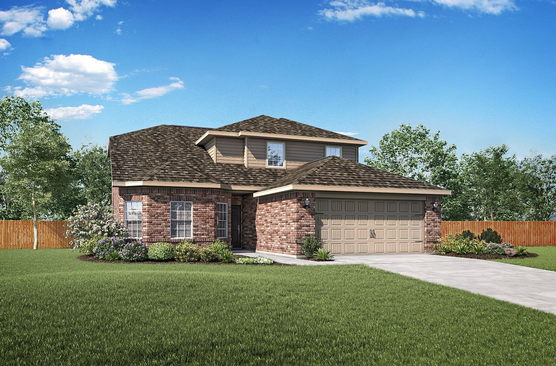 The Cypress Plan by LGI Homes:The Cypress plan has incredible curb appeal!