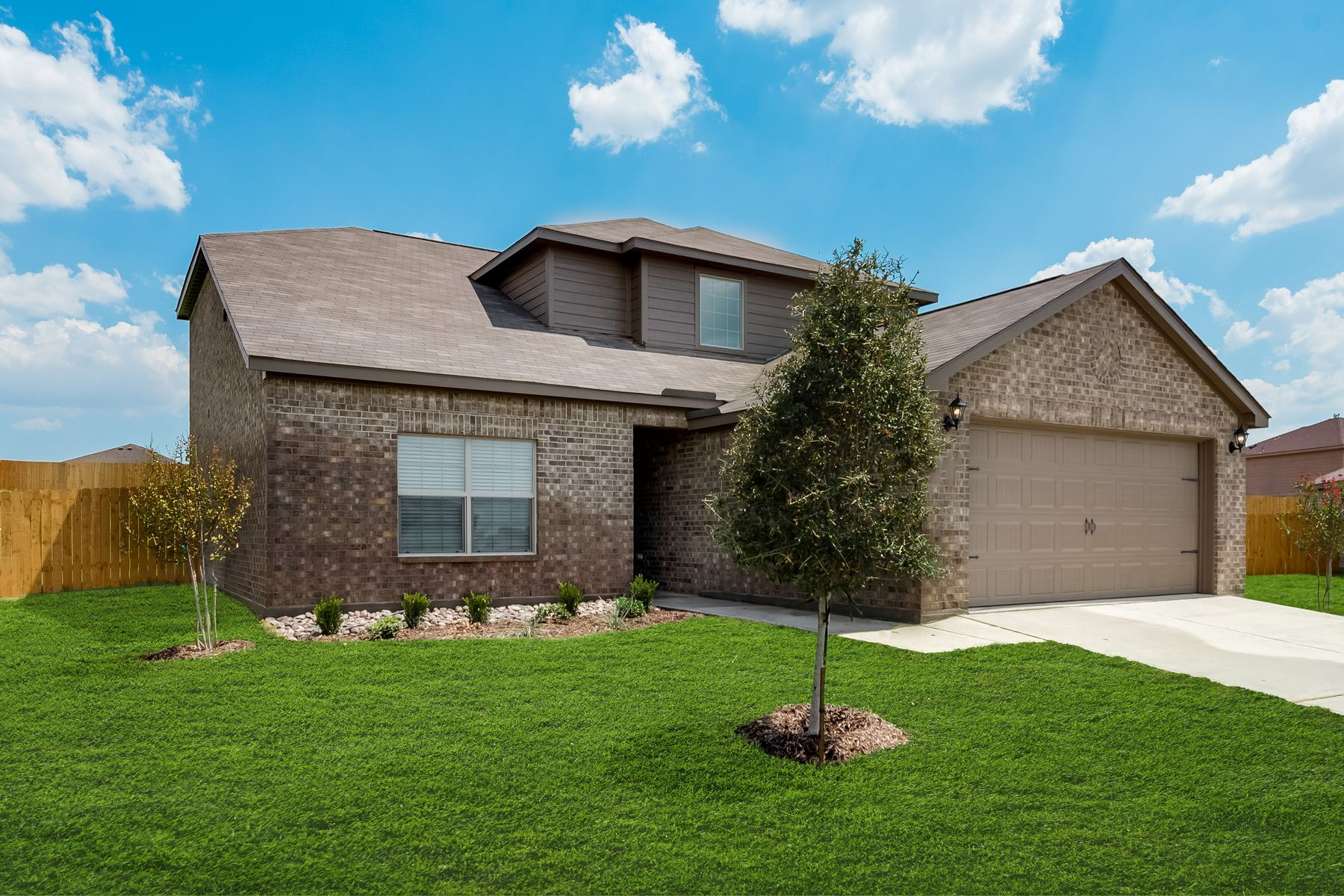 The Cypress Plan by LGI Homes:The Cypress plan has incredible curb appeal.