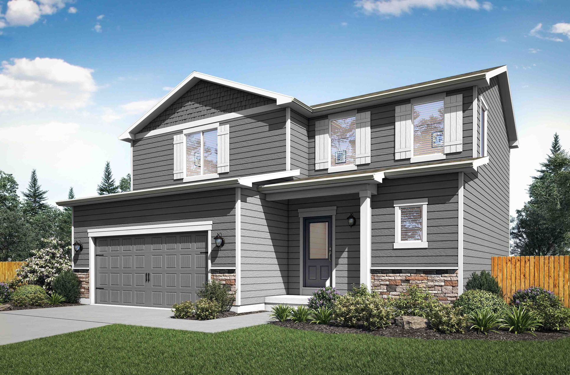 The Mesa Verde by LGI Homes:Beautiful two-story home