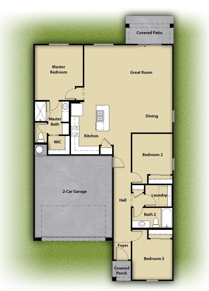 The Dayton by LGI Homes:Spacious floor plan