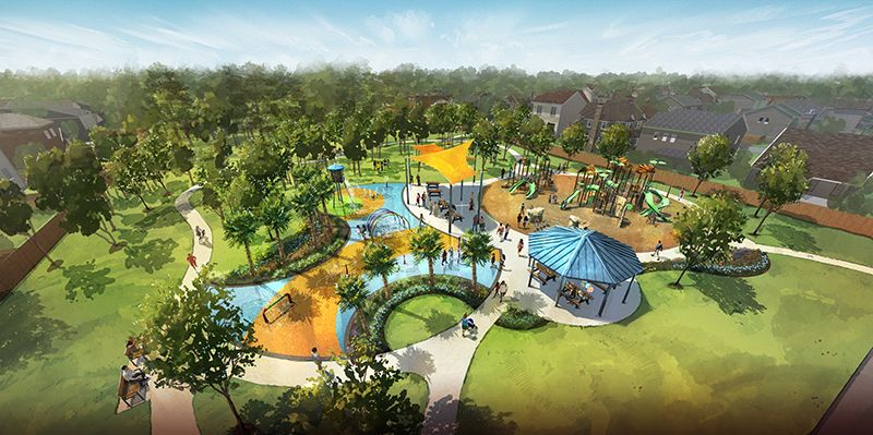 Pinewood Trails Park:Coming in 2021 - 4-acre park with playground, splash pad, picnic pavilion and more!