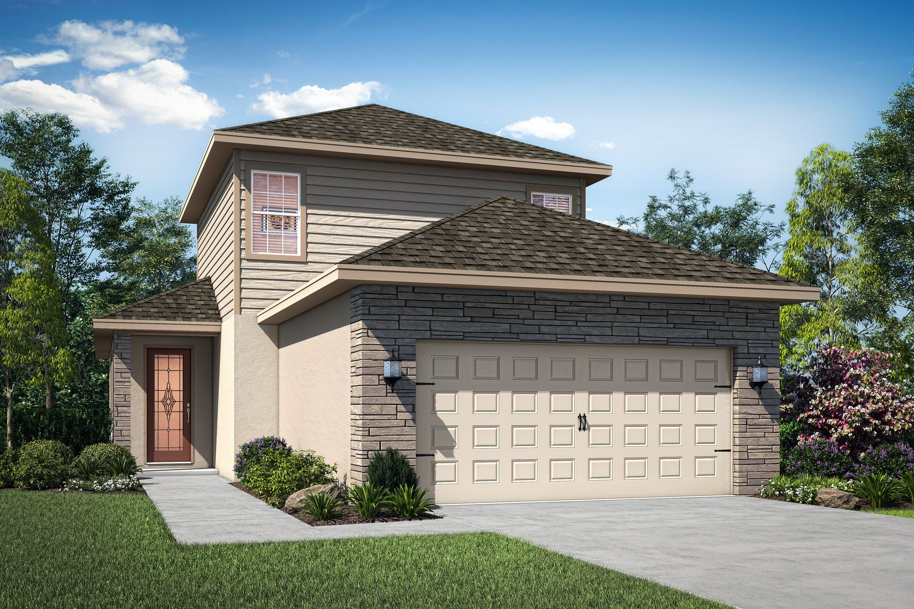 The Sirena by LGI Homes:Elevation 1