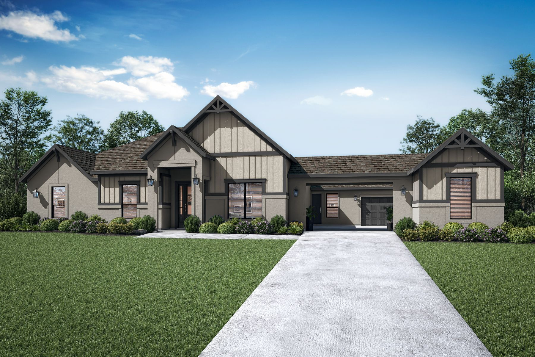 The Garza by Terrata Homes:The beautiful Garza plan boasts incredible curb appeal!