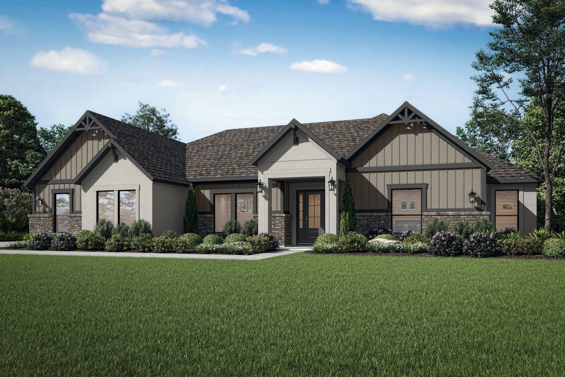 The Mantle by Terrata Homes:The Mantle is a gorgeous single-story home at Spicewood Trails