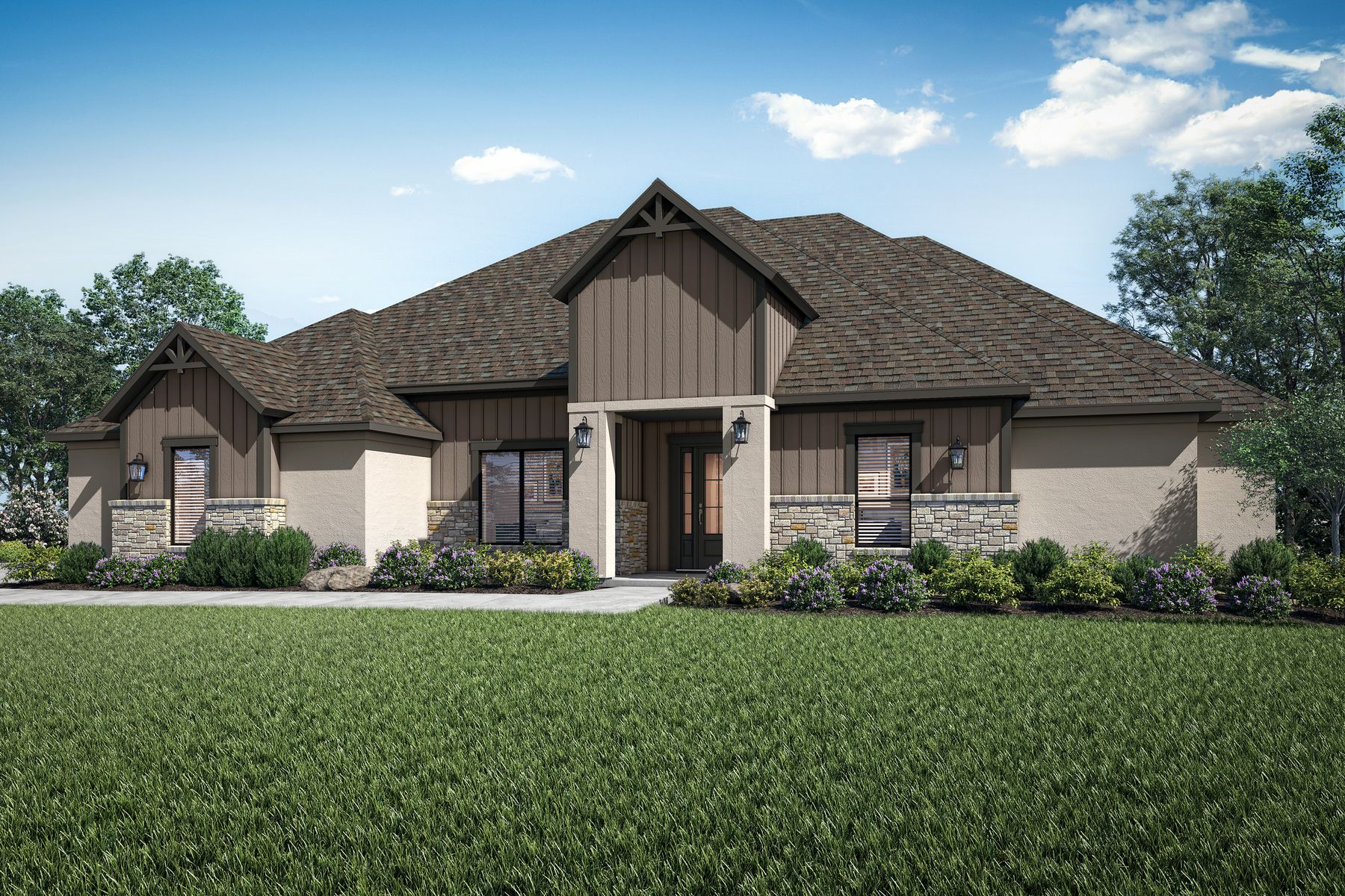 The Timberline by Terrata Homes:The stunning Timberline is a luxurious two-story home at Spicewood Trails.