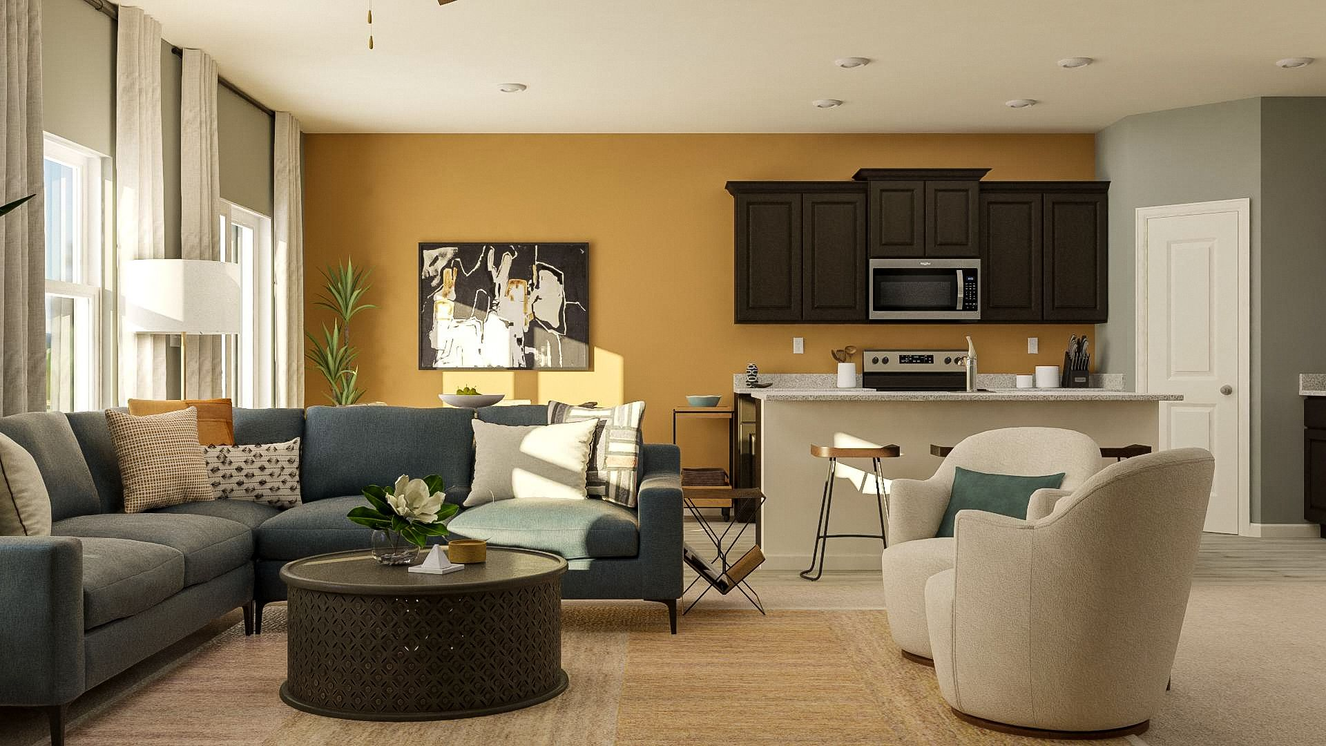 Family room - *These images may be representative and include after market items. :LGI Homes at Evans Place