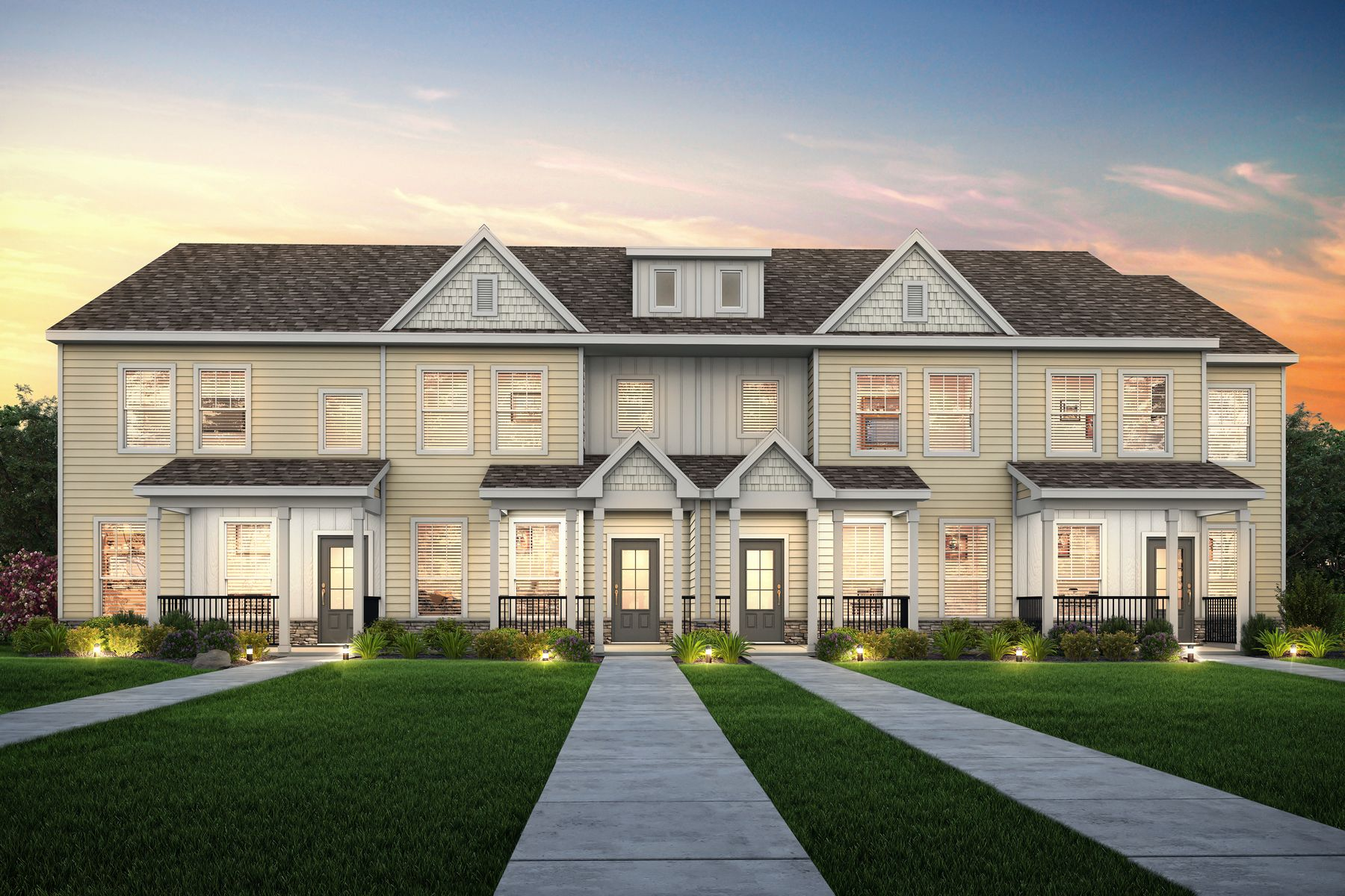 Townhomes at Huntington Pointe:Homeowners at Huntington Pointe enjoy stunning new homes, a wide array of neighborhood amenities, and easy access to the incredible attractions offered near Norfolk.