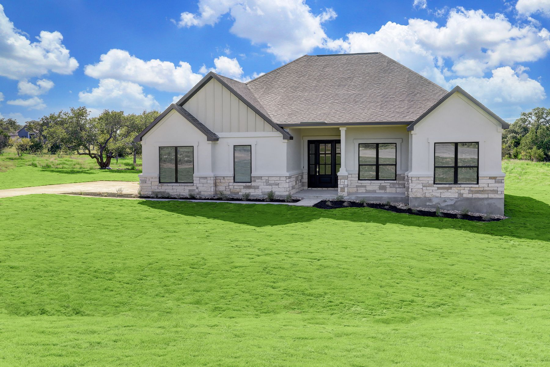 The Fairview Plan by Terrata Homes:The Fairview plan is a stunning home within the Texas Hill Country Collection at Spicewood Trails.