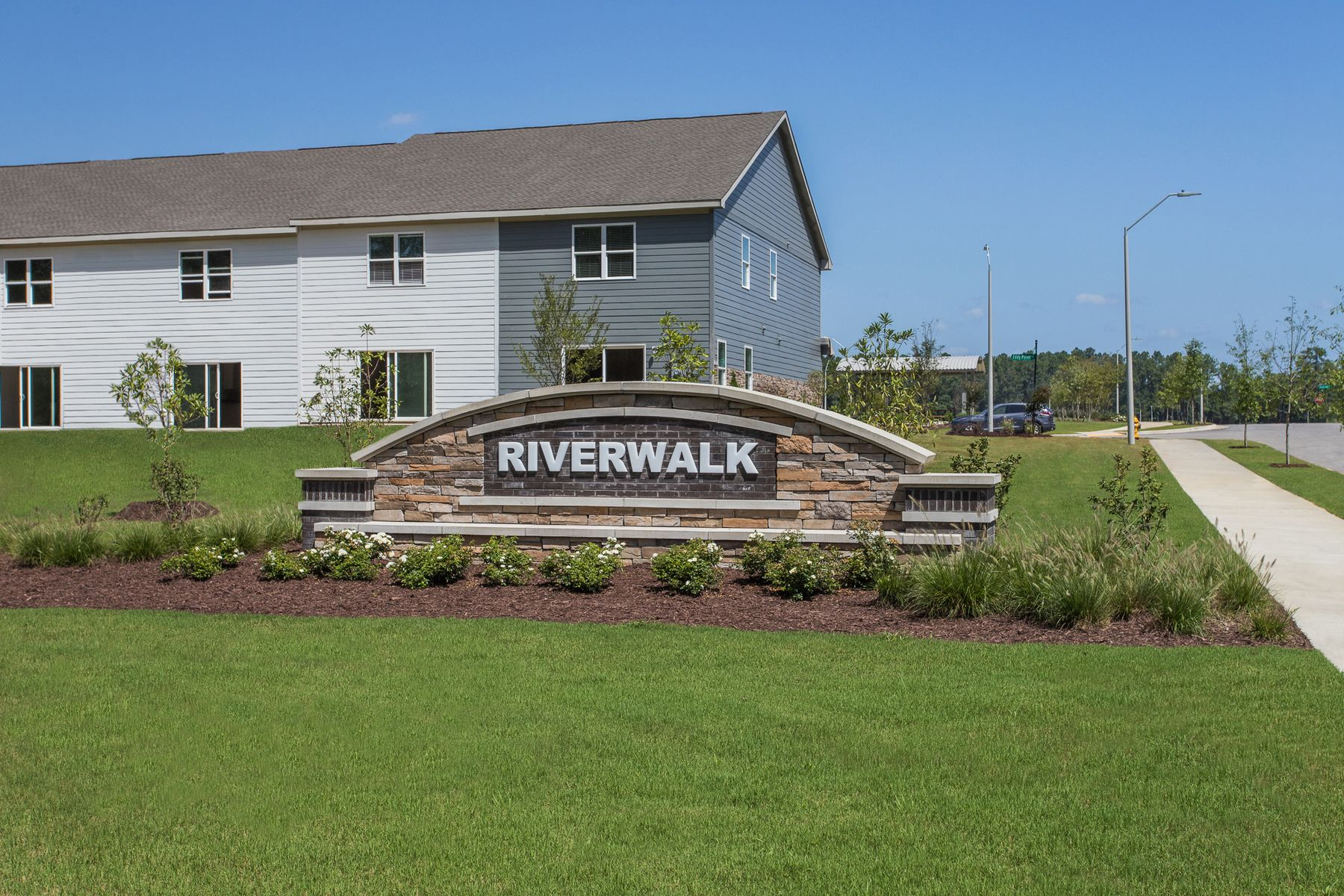 Riverwalk entrance monument