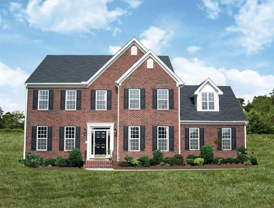 Graystone-Built On Your Land:Brick Front