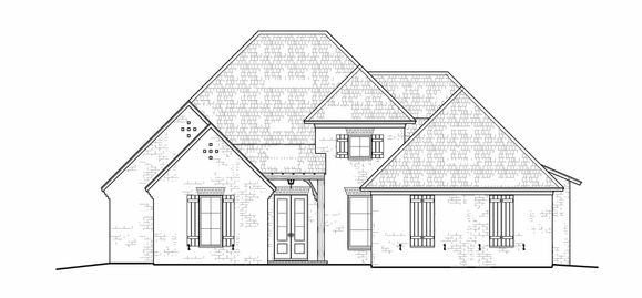The Livingston:Front Elevation