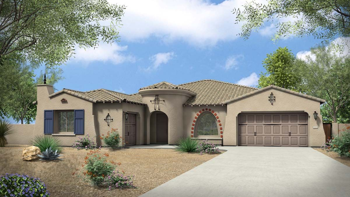 Rendering | Elevation A - Spanish