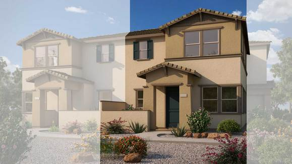Exterior:Rendering | Building 5 - Craftsman Elevation
