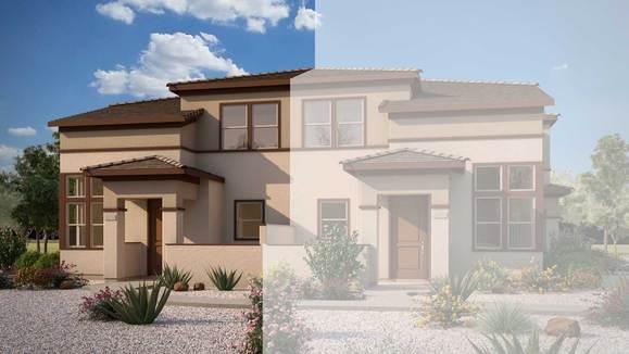 Exterior:Rendering | Building 4 - Desert Prairie Elevation