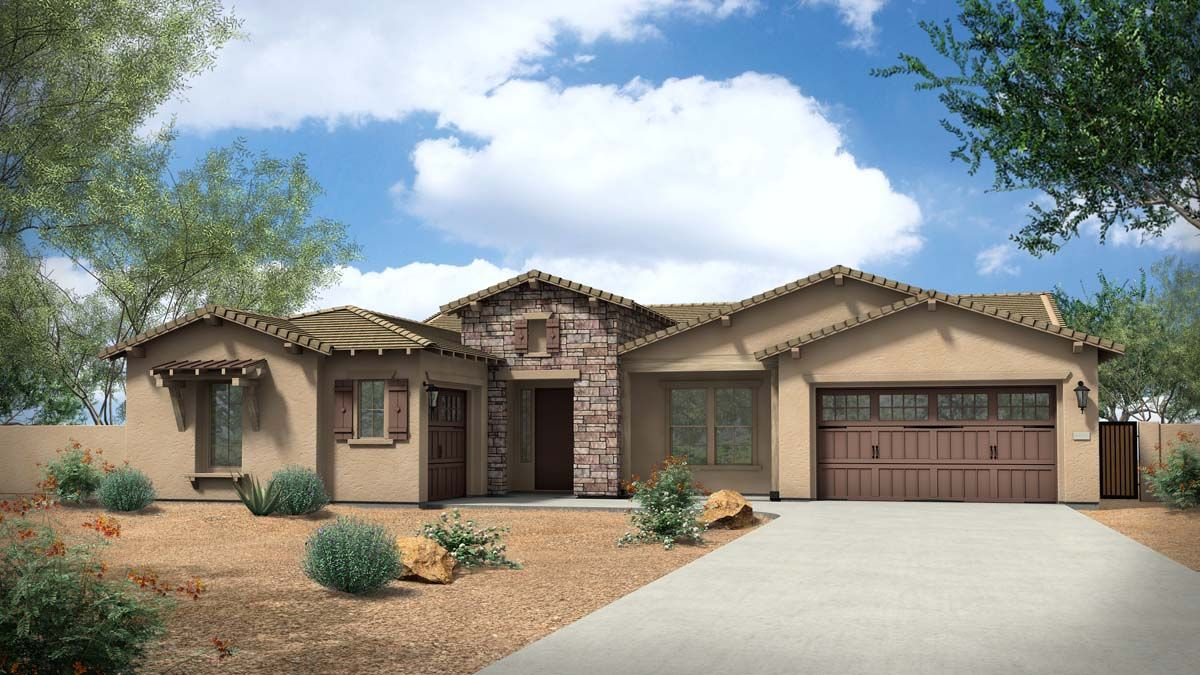 Exterior:Rendering | Elevation C - Ranch