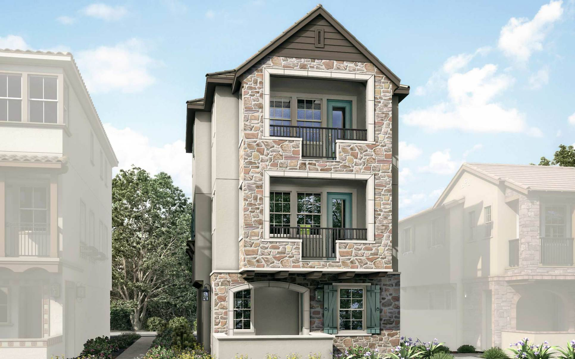 Exterior:French Country Elevation Rendering