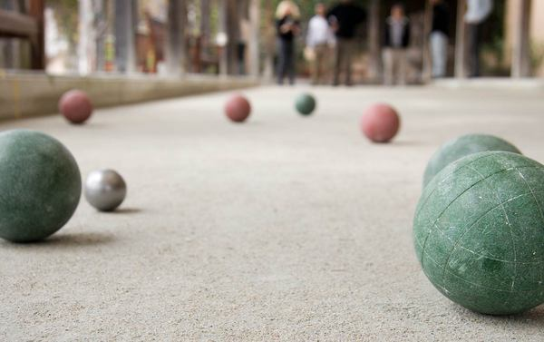 Stretch and play at the half basketball court, bocce courts or right from your own backyard.