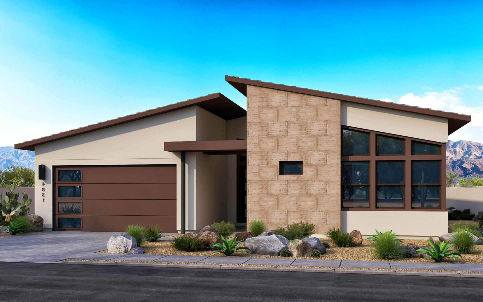 Exterior:New Century Modern Elevation A