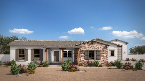 Exterior:Elevation B - Ranch