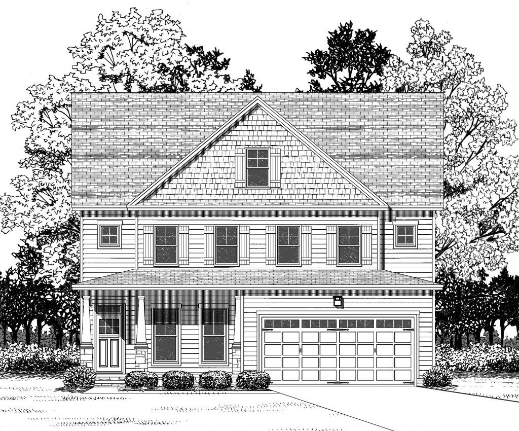 The Abbey Marie:Craftsman Elevation