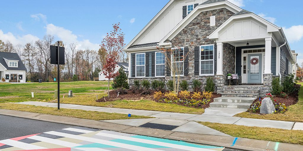 Wendell - Wendell Falls:Stewart Front Exterior1, Single-Family Home, Mattamy Homes Raleigh Division