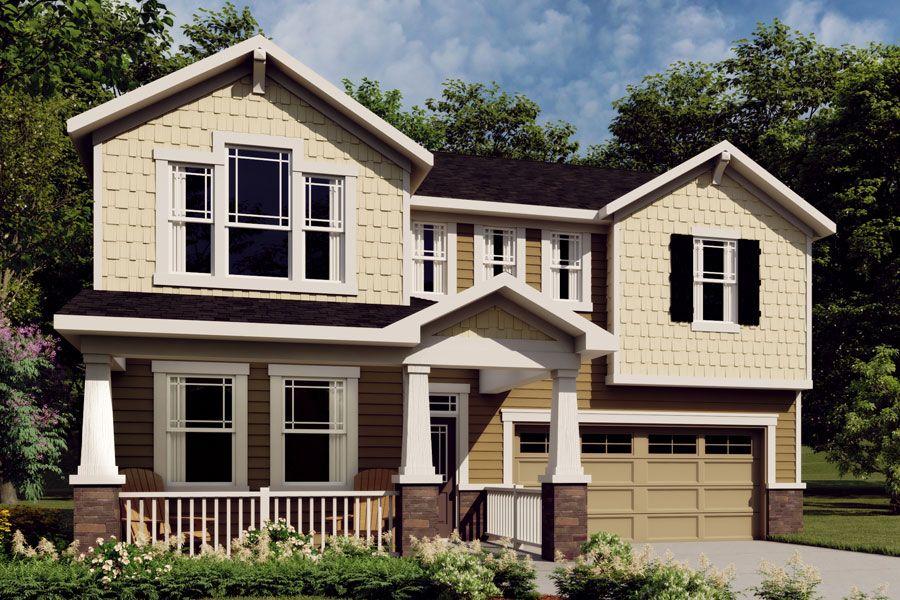 Exterior:Gaines Craftsman Elevation