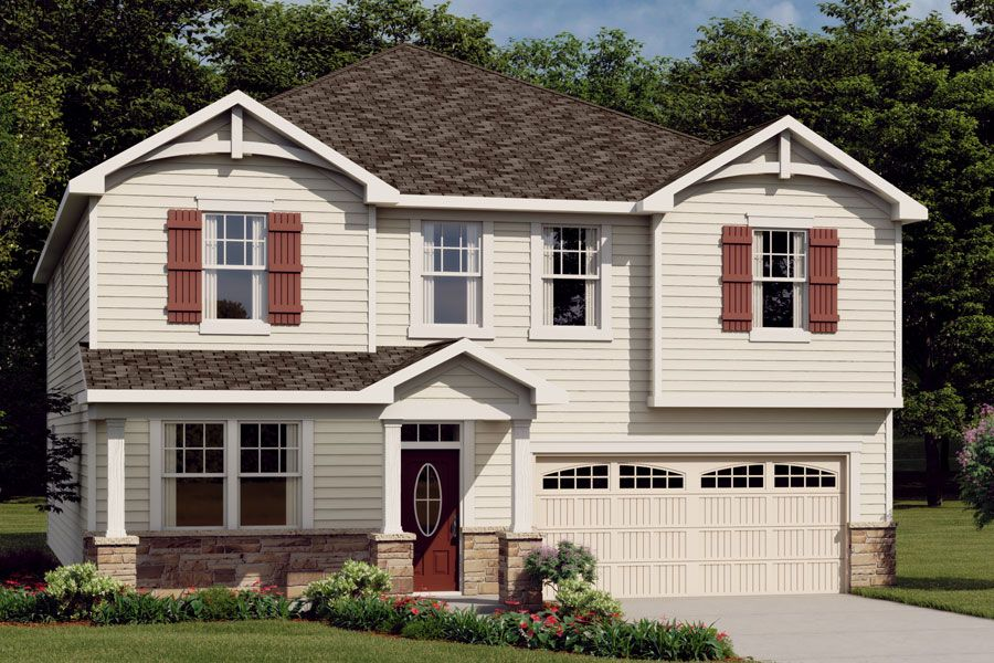 Exterior:Crosby French Country Elevation