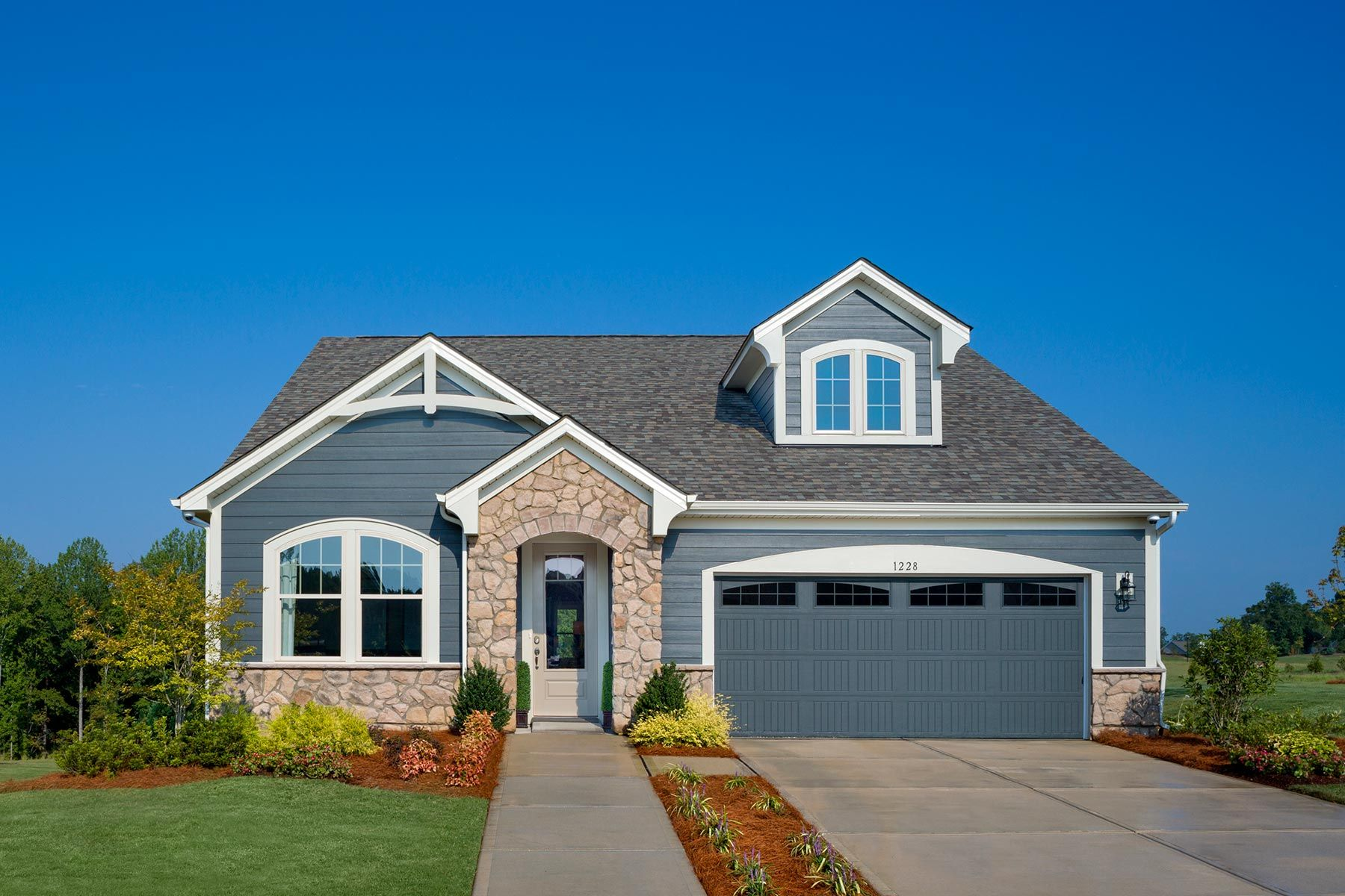 Tega Cay - Cadence at Tega Cay:Presley Model French Country Elevation