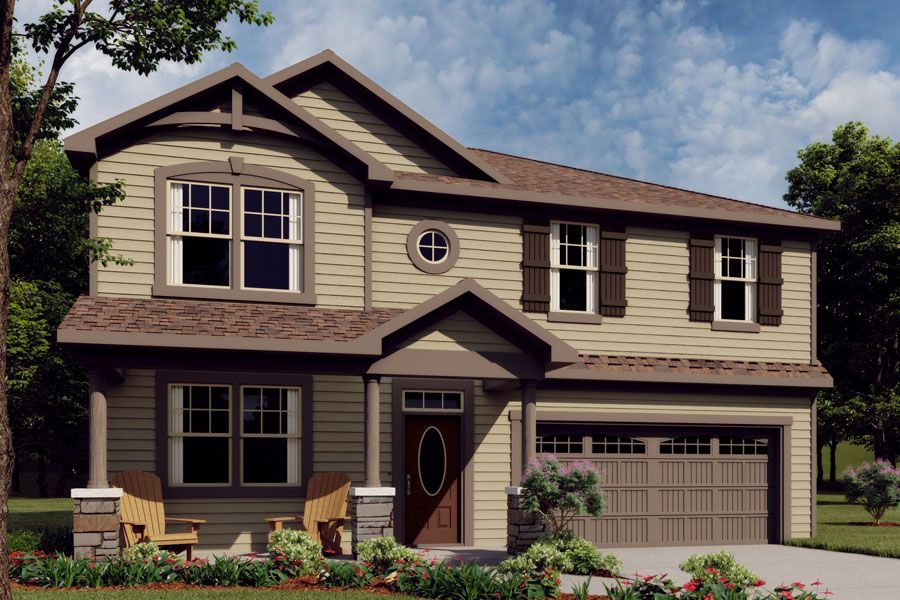 Exterior:Logan French Country Elevation